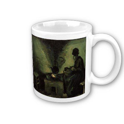 Vincent Fireplace - Peasant Woman by the Fireplace by Vincent Van Gogh Coffee Cup