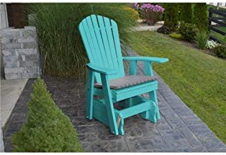 product image for Poly 2 Ft Single Adirondack Glider Chair - Aruba Blue