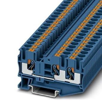 DIN Rail Terminal Blocks PT 6-TWIN BU (10 pieces): Amazon