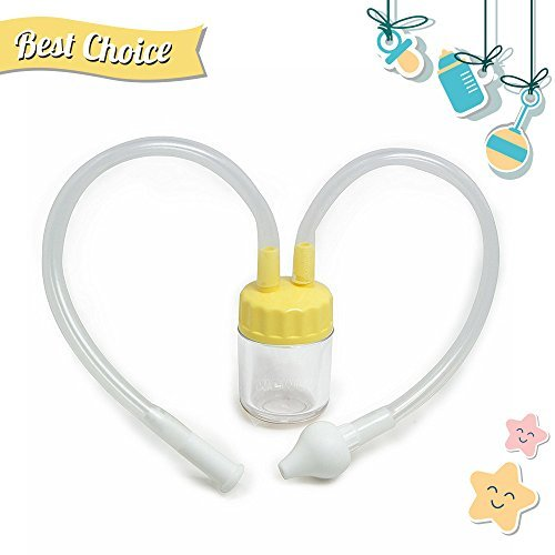 Wowly Baby Nasal Aspirator - Best Infant Nose Cleaner & Snot Sucker - Yellow