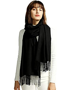 Womens Large Soft Cashmere Feel Pashmina Shawls Wraps Winter Light Scarf