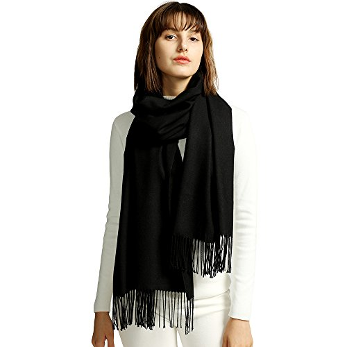 MaaMgic Womens Super Soft Cashmere Feel Pashminas Large Winter Wraps Solid Color Blanket Scarf