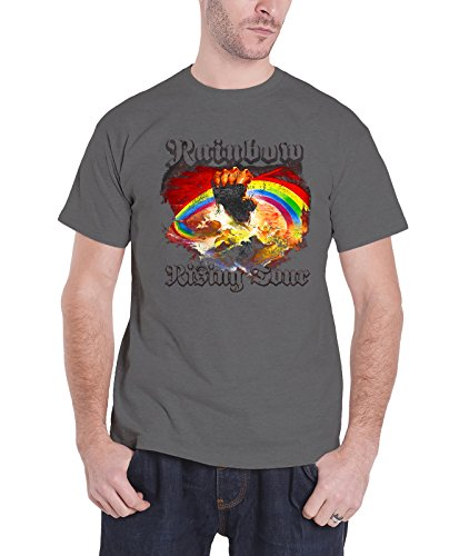 - Colors of Rainbow Rainbow T Shirt Rising Tour 76 Official Mens Grey