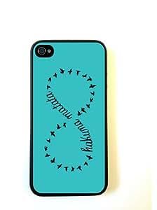 Hakuna Matata Teal Plain Black iphone 5c Case - For iphone 5c/s - Designer TP...