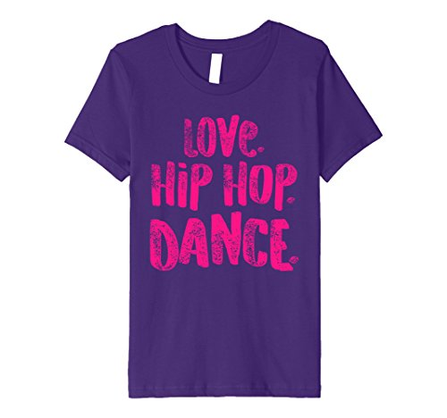 Kids Love Hip Hop Dance Shirt for Dancers, Cute Gift, Pink 6 Purple by Hip Hop Dancing Shirts for Dancers