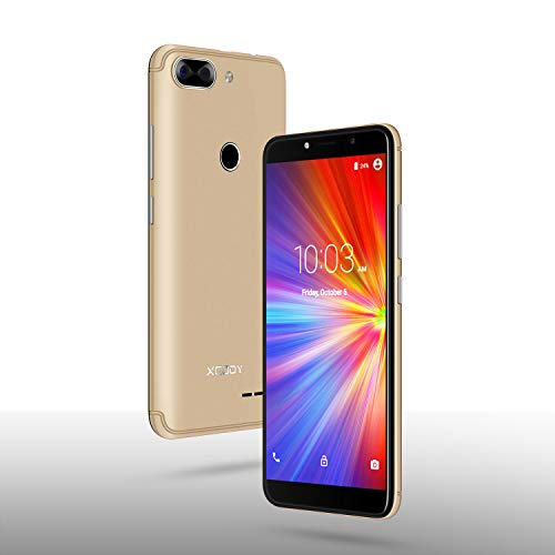 Android Smartphone,XGODY D27 Dual SIM Free Mobile Phone with 5.5 Inch qHD Display(18:9),Andriod Quad Core System,5MP Beauty Camera + 8GB ROM(Gold)