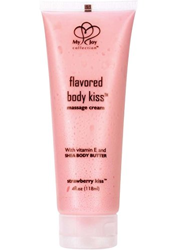 Siam Circus Flavored Body Kiss Water Soluble Body Skin Massager Cream Strawberry Kiss 4oz