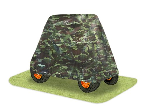 Pyle PCVUTV14 Armor Shield 4 x 4 UTV Utility Vehicle Storage Protective Indoor/Outdoor Cover, Fits Vehicles up to  125'' Long, Camo Color (Vehicle Utility Utv)