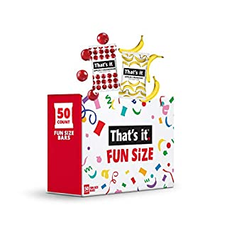 That's It. Fun Size Fruit Bars Variety Pack(50 Pieces, 10g Each) With Apples + Bananas, Apples + Cranberries, Non-GMO, Paleo and Kosher Friendly, Gluten Free Breakfast Snacks
