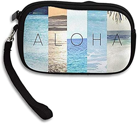 Amazon.com: Coin Purse Aloha Summer Zipper Wallet Mini ...