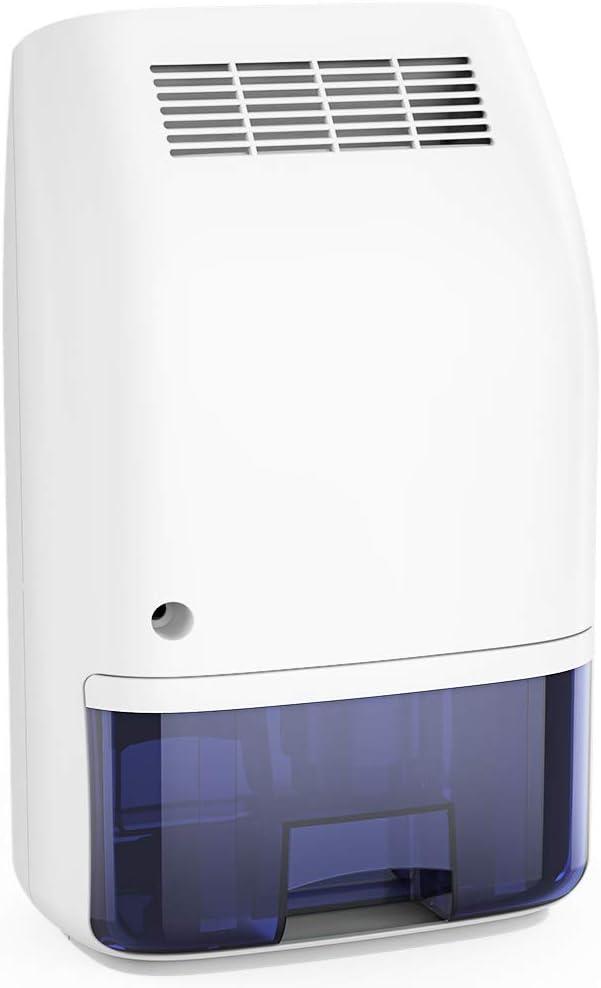 Afloia Electric Home Dehumidifier, Portable Dehumidifier for Home Bedroom 700ml (24fl.oz) Deshumidificador,Quiet Room Small Dehumidifiers for Home Bathroom Bedroom Dorm Room Baby Room RV Crawl