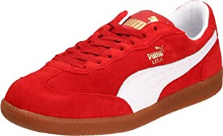 new style afb30 454af PUMA Unisex Liga Suede Classic Sneaker,Pompeian Red/White,14 ...