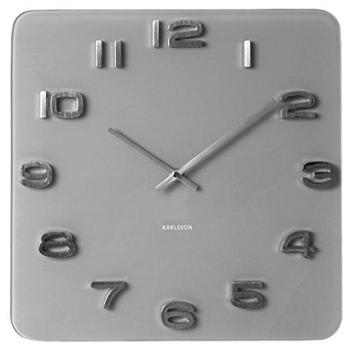 Karlsson Vintage Glass Wall Clock, Grey