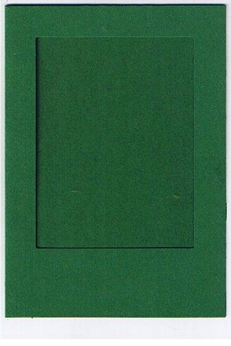 4 Passepartoutkarten dunkelgrü n mit weissem Umschlag Tophobby