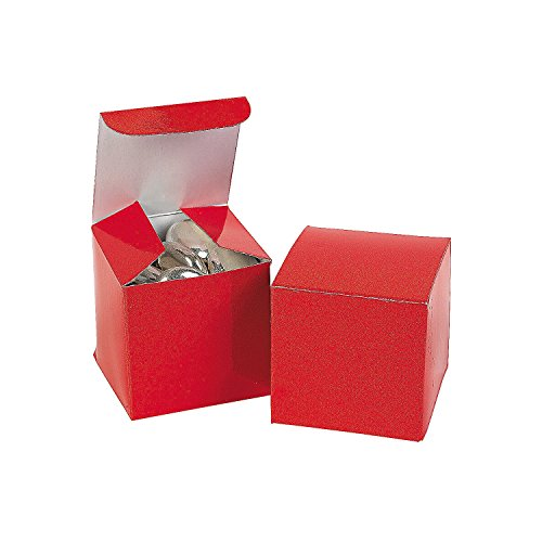 Fun Express Mini Red Gift Boxes (2 Dozen)
