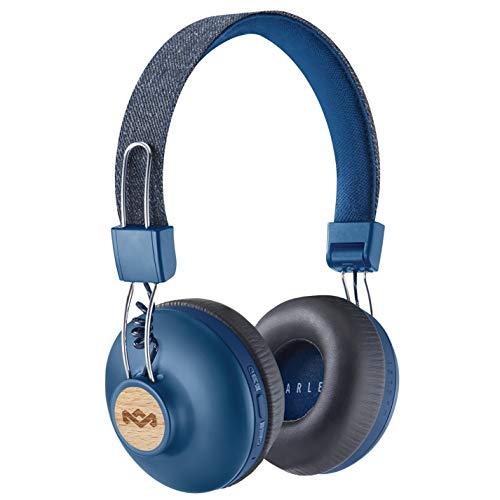 House of Marley Positive Vibration 2 Wireless Bluetooth On Ear Headphones, Denim