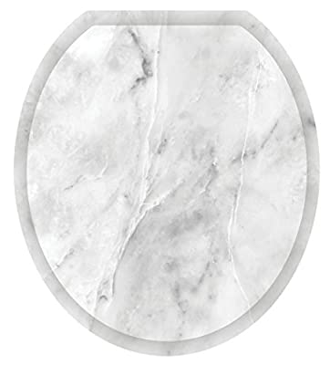 Toilet Tattoos, Toilet Seat Cover Decal, Calcutta Marble, Size Round/standard
