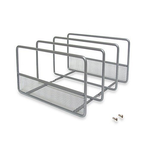 .ORG Vertical Mesh Durable, Neat, Kitchen Organizer Rack- Includes Optional Mounting Feature For Sturdy and Secure Installation (1)