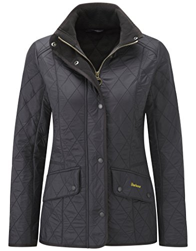Barbour Cavalry Women's Polarquilt Jacket Black Size US2/UK6 Barbour Fleece Jacket