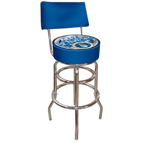 United States Air Force Padded Swivel Bar Stool with Back