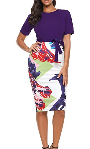 BETTE BOUTIK Women's One-Piece Dress Summer Dress Chic & Elegant Color Purple X-Large