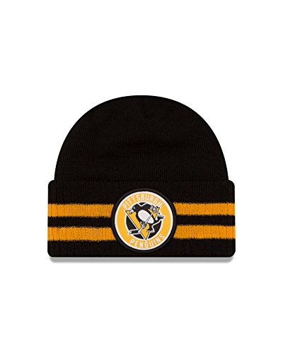 NHL Pittsburgh Penguins 2 Striped Remix Knit Beanie, One Size, Black