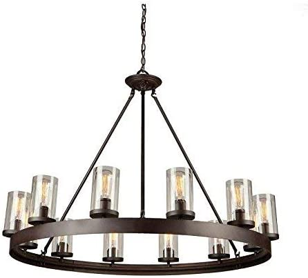 Artcraft Lighting Menlo Park 12-Light Chandelier, Dark Chocolate