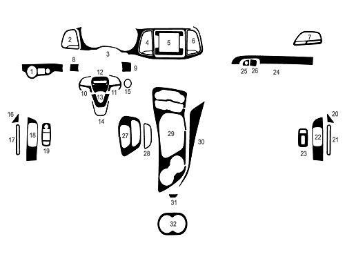 Rdash Dash Kit Decal Trim for Dodge Challenger 2015-2017 - Carbon Fiber 4D - 038 Chaos
