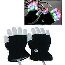 Luwint Children LED Finger Light Gloves - Amazing Colorful Flashing Novelty Toys for Kids Boys Girls (No Box Package)