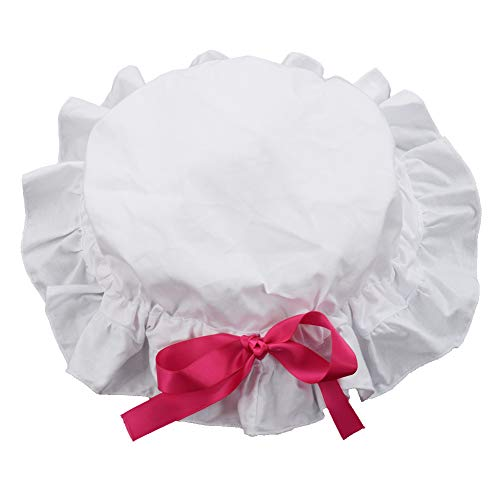 GRACEART Women's Mob Cap Bonnet Colonial Costume Accessory 100% Cotton (Style-1) -