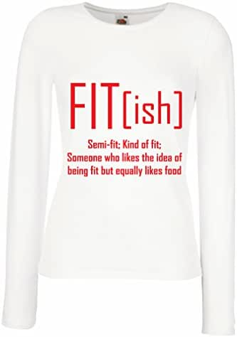 lepni.me T Shirt Women Fit - Ish Definition. Exercise - Workout - Gym, Sarcastic Gift Idea, Funny Weightloss Sayings