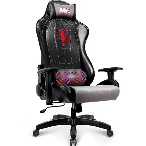 Marvel-Avengers-Massage-Gaming-Chair-Desk-Office-Computer-Racing-Chairs-Recliner-Adults-Gamer-Ergonomic-Game-Reclining-High-Back-Support-Racer-Leather-Spider-Man
