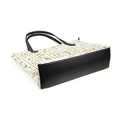 Los Coosun Del Bolsos La Pu Jeroglíficos De Las Medio Cuero Y Muticolour Mujeres Para Monedero Bolsa Asas Bolso Antiguo Egipto drfrwq