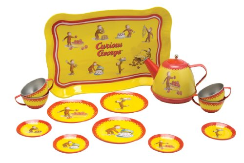 Schylling Curious George Tin Tea - Curious George Flower