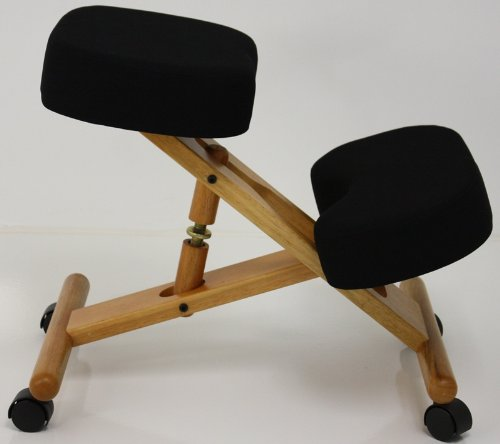 Wood Knee Chair ~ Jobri wood kneeling chair home and office chairs