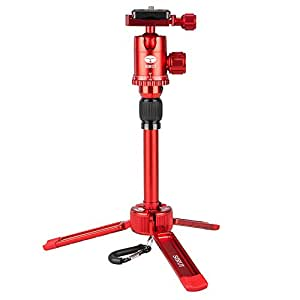 Sirui 3T-35R 2-Section Aluminum Table Top Tripod, 8.8lbs Capacity, 13inch Maximum Height, Red