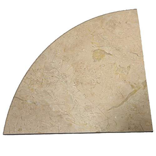 - Crema Marfil Marble Both Side Polished Bathroom Corner Shelf 9''x9'' by Tile Spot