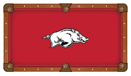 Holland Bar Stool Co. Arkansas Razorbacks HBS Red with White Logo Billiard Pool Table Cloth ()