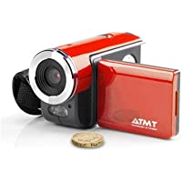 ATMT DVC3060RD Digital Video Camcorder with 1.5-Inch Color TFT Screen, 3 Mega Pixel interpolated to 5 MP (Red)