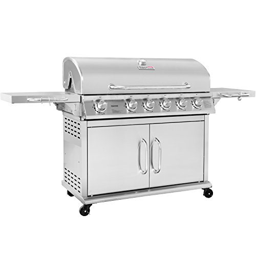 Cheap Royal Gourmet Pre-assembled Stainless Steel 6-Burner Propane Gas Grill with Infrared Burner