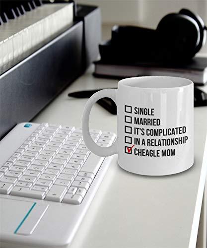 Cheagle Mom Mug - Cheagle Gift - Cheagle Dog Mom - Single Married It's Complicated In A Relationship Cheagle Mom Mug