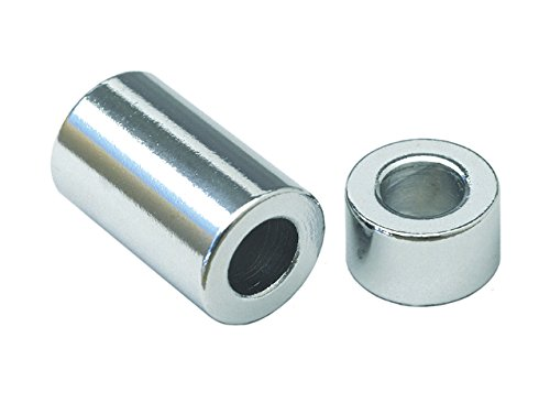 Cy-Chrome MPB516 Alloy Steel Spacer 3/8'' ID x 3/4'' OD x 1/2'' Length, Chrome (Pack of 5) by CY-CHROME