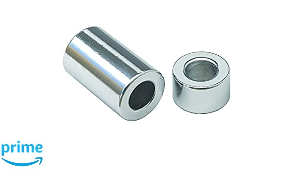 Lyn-Tron Zinc Plated Finish Steel 0.252 ID 1//2 Length 1//4 Screw Size Pack of 5 5//8 OD