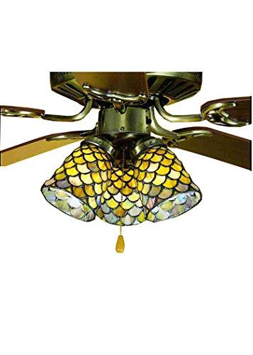 Meyda Tiffany 27470 Fishscale Ceiling Fan Light Shade, 4