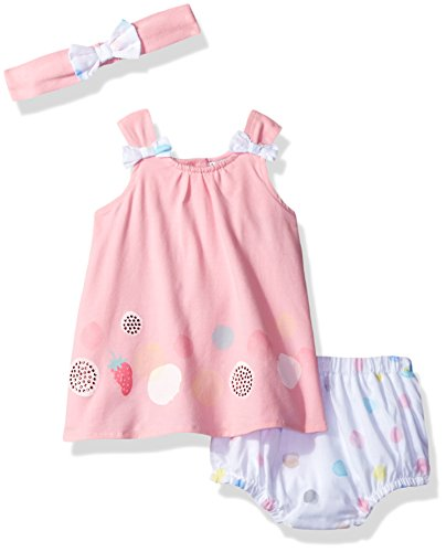 absorba Baby Girls Dress and Panty Set, Pink, 6-9 Months (Panties Baby Fancy)