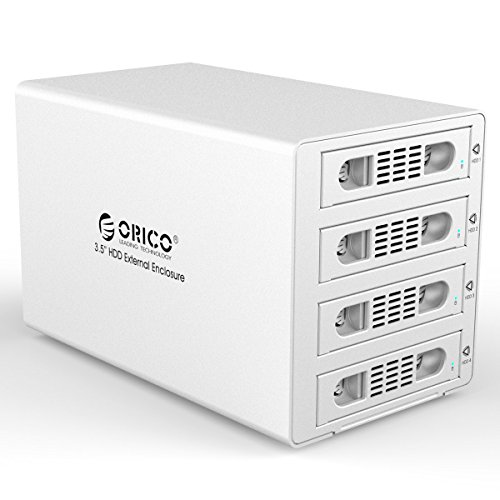 ORICO Aluminum 4 Bay 3.5 inch Hard Disk Drive Case HDD RAID Enclosure ,USB 3.0 & eSATA Support UASP and SATA III 6.0Gbps Speed (3549RUS3) by ORICO (Image #7)