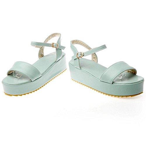 Coolcept Women Comfy Flatform Sandals Shoes Blue 1rhDa
