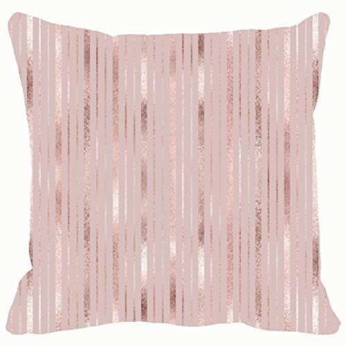 Elegant Geometric Rose Gold Throw Pillows Covers Accent Home Sofa Cushion Cover Pillowcase Gift Decorative 18x18 inches -