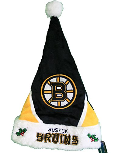 NHL Team Color Santa Hat (Boston (Boston Bruins Santa Hat)