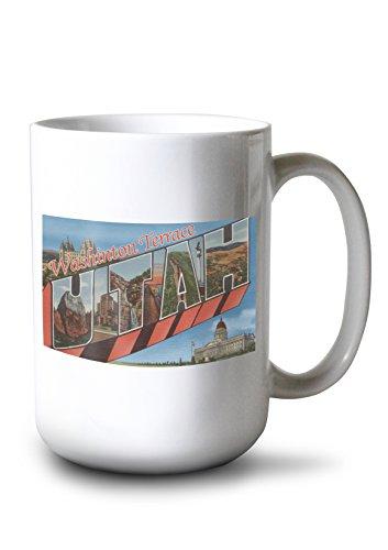 (Washington Terrace, Utah - Large Letter Scenes (15oz White Ceramic Mug))